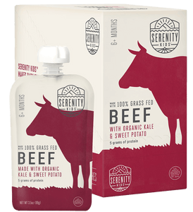 Organic Puree: 6 Pack of Beef with Kale & Sweet Potato (6M) (3.5 oz)