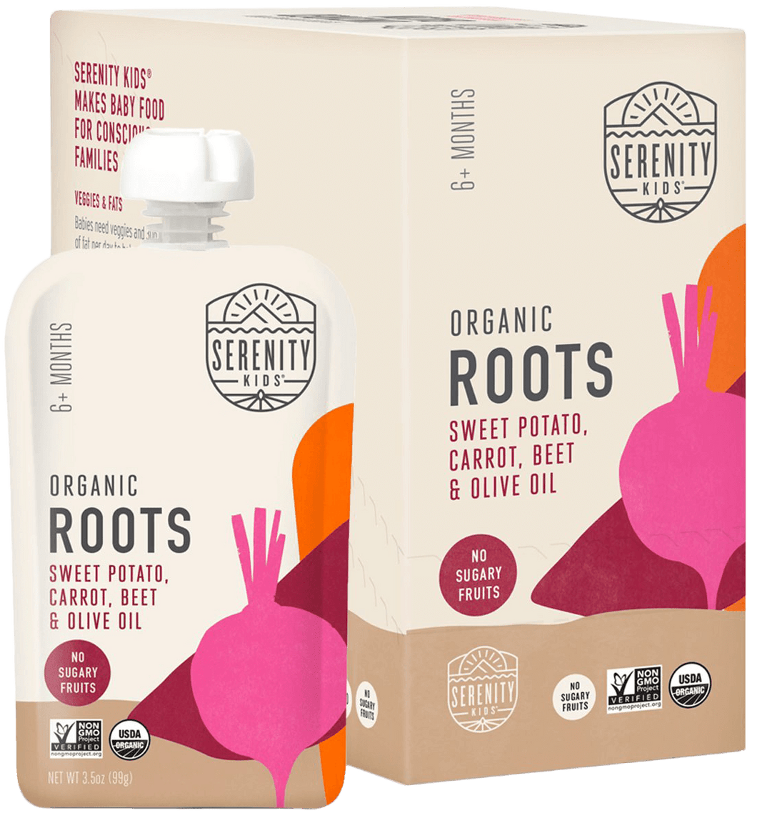 Organic Puree: 6 Pack of Roots - Sweet Potato, Carrot, Beet (6M) (3.5 oz)