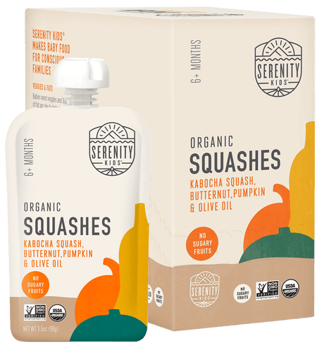 Organic Puree: 6 Pack of Squashes - Kabocha Squash, Butternut Squash & Pumpkin (6M) (3.5 oz)