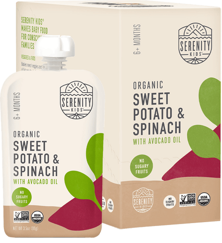Organic Puree: 6 Pack of Sweet Potato & Spinach (6M) (3.5 oz)