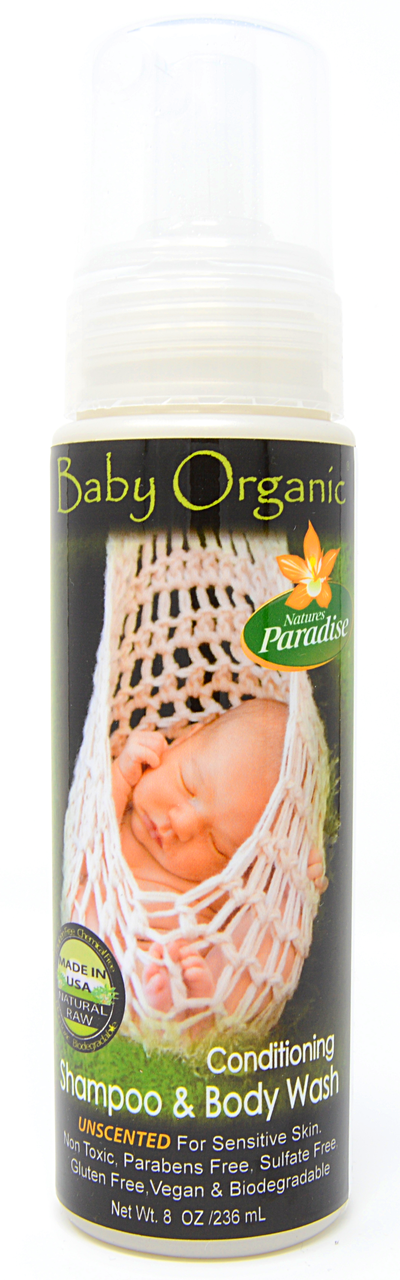 Baby Organic Shampoo & Body Wash (Unscented) (8 fl oz)