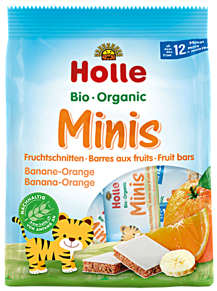 Organic (Bio) Minis: Banana and Orange Fruit Bars (8 x 12.5g)