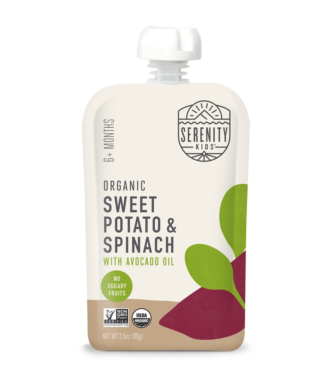Organic Puree: Sweet Potato & Spinach (6M) (3.5 oz)