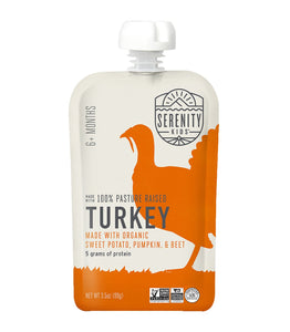 Organic Puree: 6 Pack of Turkey with Pumpkin & Beets (6M) (3.5 oz)