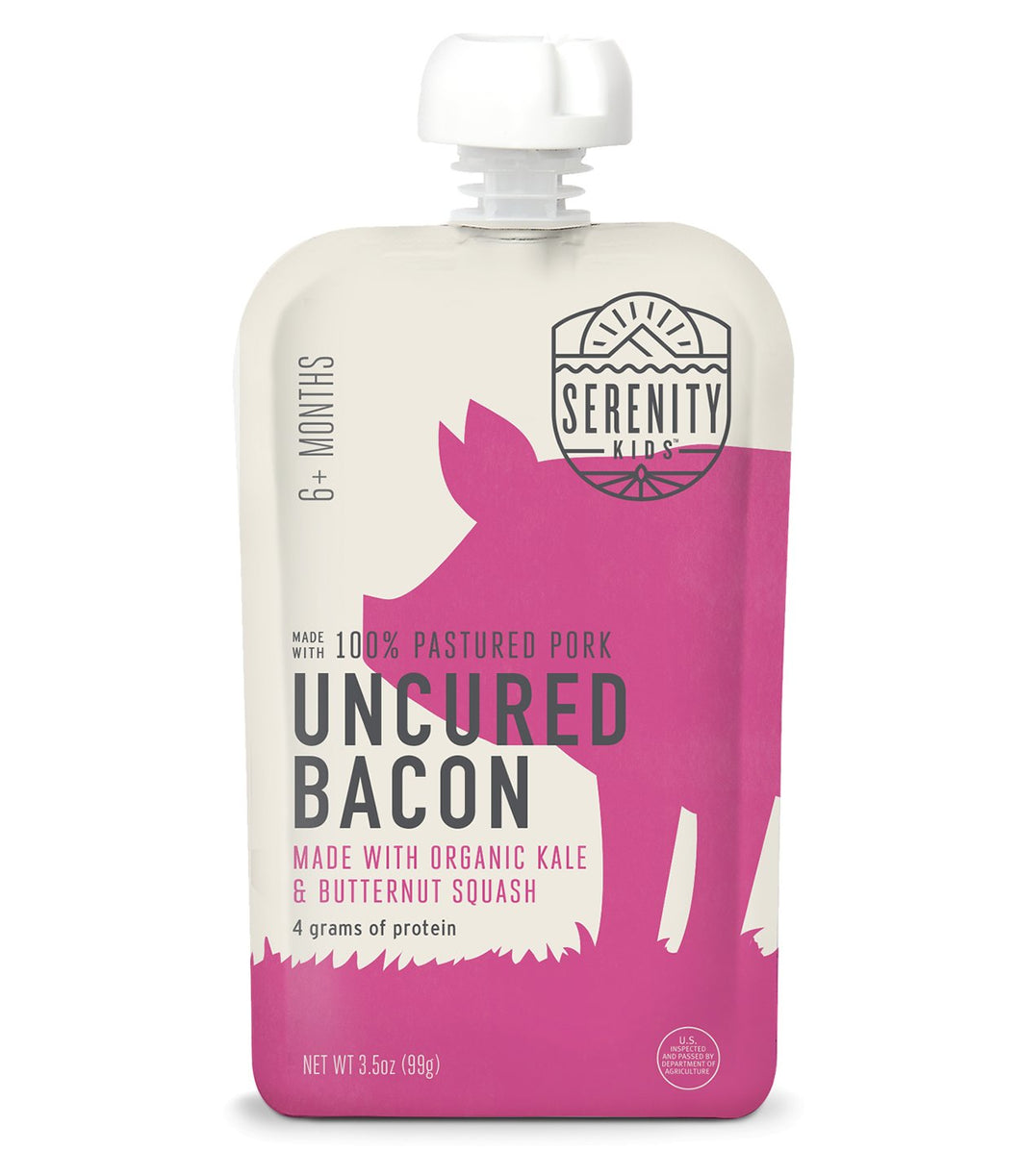 Organic Puree: Uncured Bacon with Kale & Butternut Squash (6M) (3.5 oz)