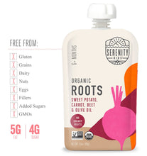 Load image into Gallery viewer, Organic Puree: 6 Pack of Roots - Sweet Potato, Carrot, Beet (6M) (3.5 oz)