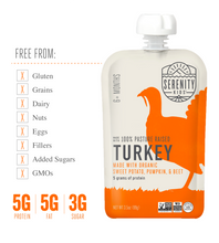 Load image into Gallery viewer, Organic Puree: 6 Pack of Turkey with Pumpkin & Beets (6M) (3.5 oz)
