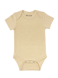 5-Pack of Creamy Beige Short-Sleeved Bodysuits