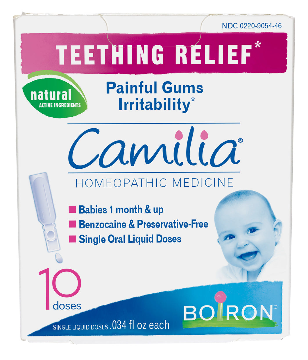 Teething Relief Homeopathic Medicine - 10 Doses (10 x 0.34 fl oz)