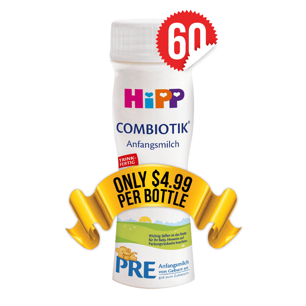 60 Pieces of HiPP Ready-to-Feed Germany Stage PRE (200ml)