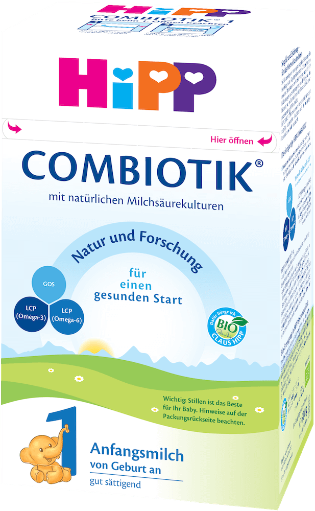 Stage 1 Organic (Bio) Combiotic Infant Milk Formula (600g) - German Version