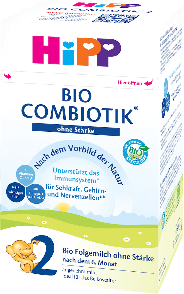 HiPP Stage 2 No Starch Organic (Bio) Combiotic Follow-on Infant Milk Formula (600g) - German Version