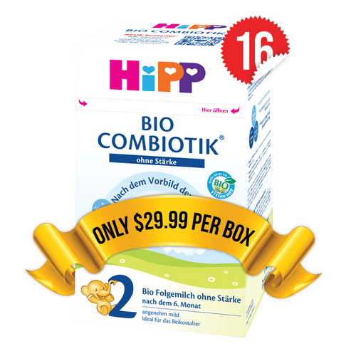 16 Boxes of HiPP Germany Stage 2 No Starch (600g)