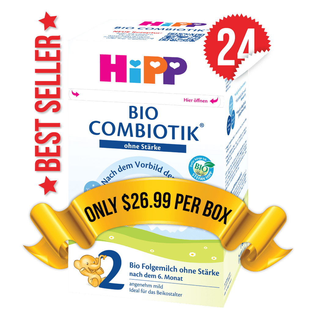 24 Boxes of HiPP Germany Stage 2 No Starch (600g)