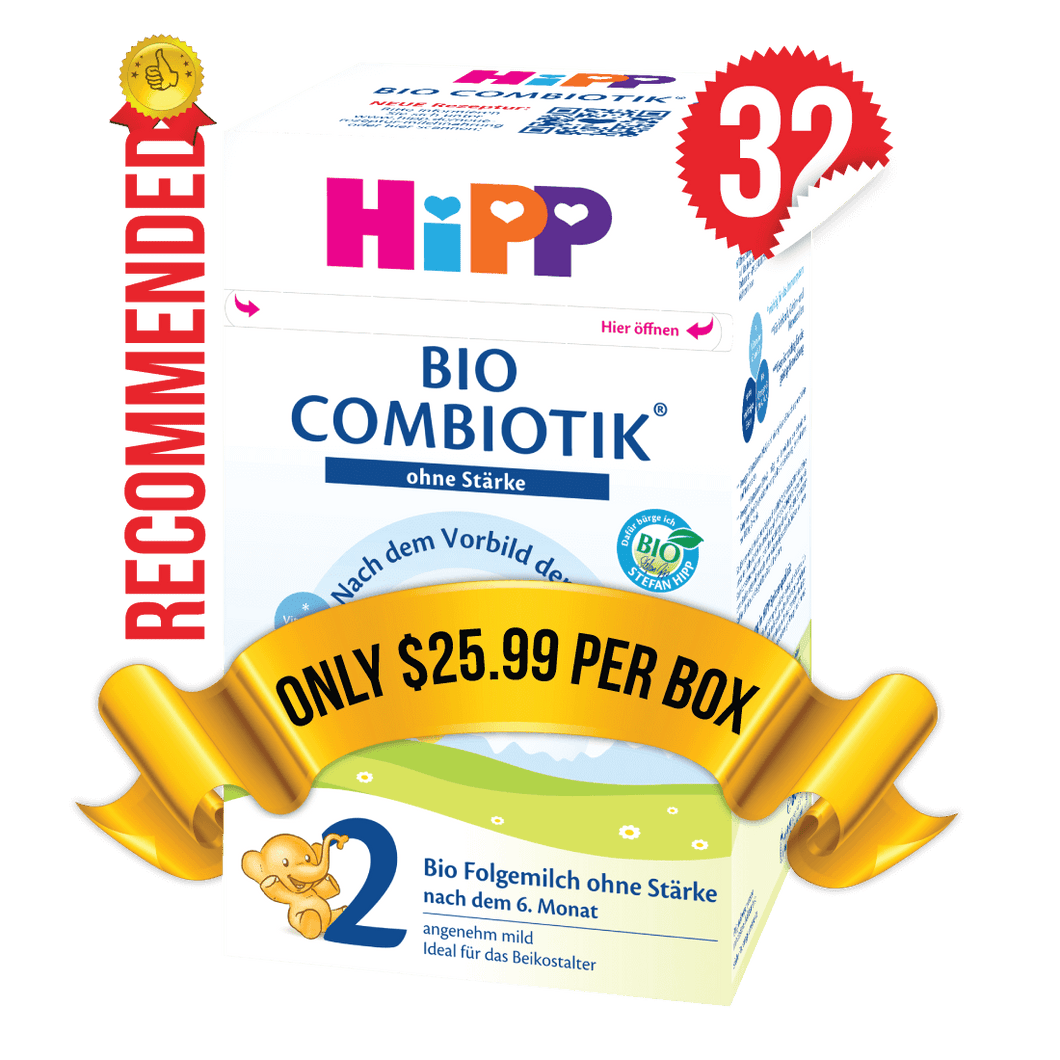 32 Boxes of HiPP Germany Stage 2 No Starch (600g)