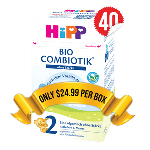 40 Boxes of HiPP Germany Stage 2 No Starch (600g)