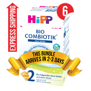 6 Boxes of HiPP Germany Stage 2 No Starch (600g)