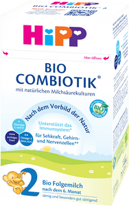 HiPP Stage 2 Organic (Bio) Combiotic Follow-on Infant Milk Formula (600g) - German Version