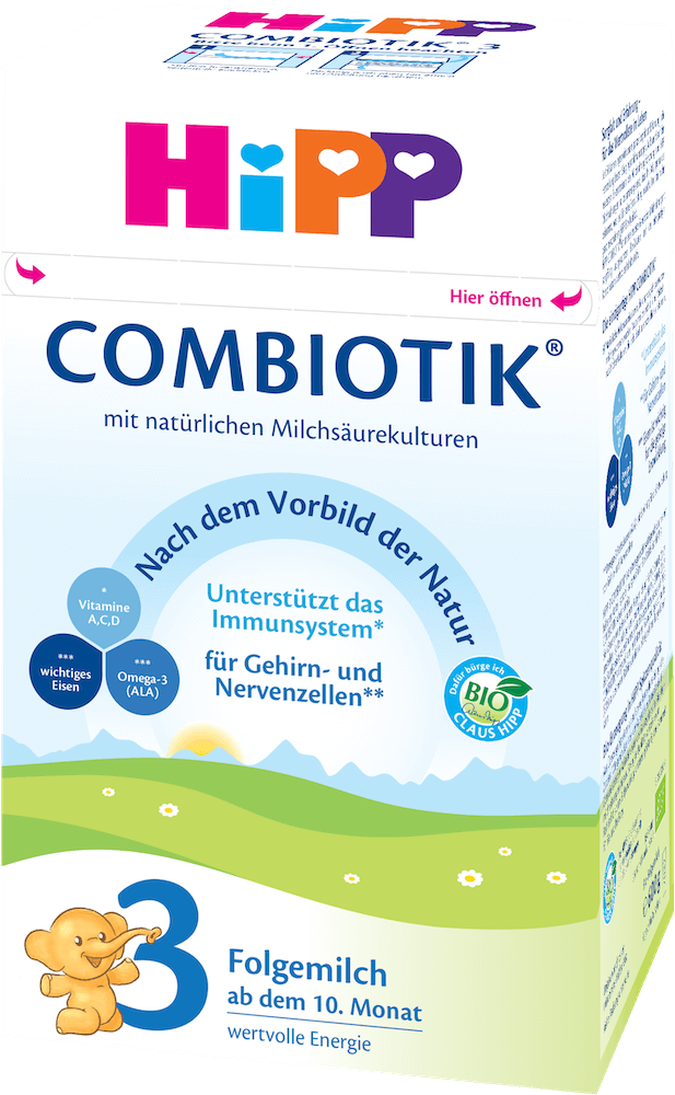 Stage 3 Organic (Bio) Combiotic Baby Milk Formula (600g) - German Version