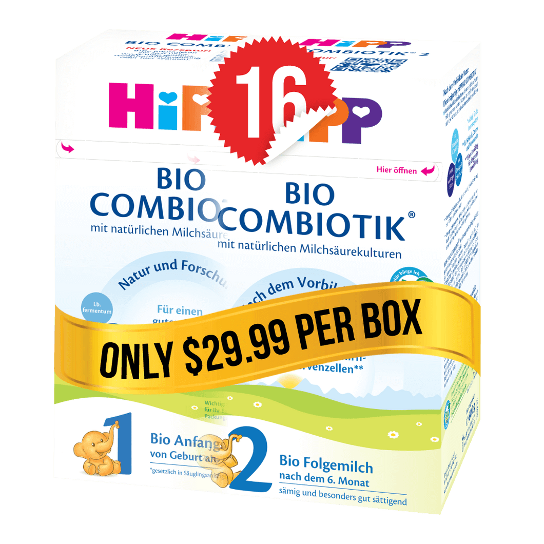 8 Boxes of HiPP Germany Stage 1 (600g) and 8 Boxes of HiPP Germany Stage 2 (600g)