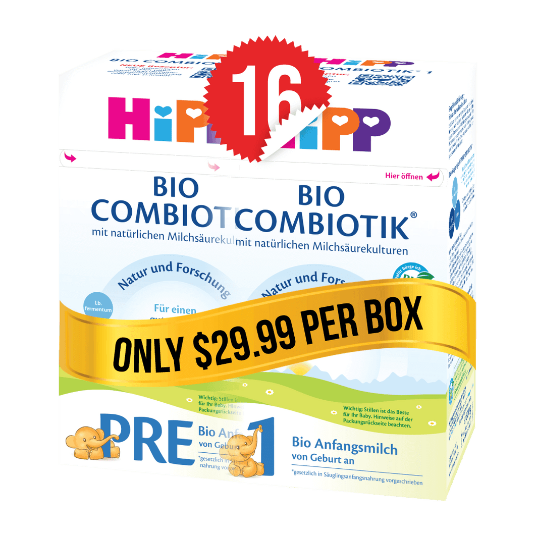 8 Boxes of HiPP Germany Stage PRE (600g) and 8 Boxes of HiPP Germany Stage 1 (600g)