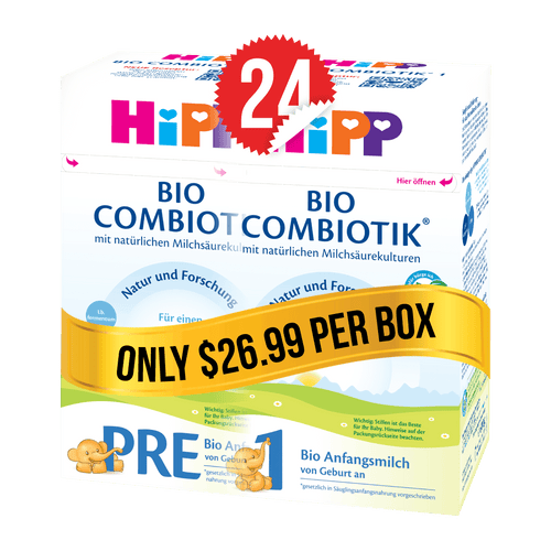 12 Boxes of HiPP Germany Stage PRE (600g) and 12 Boxes of HiPP Germany Stage 1 (600g)