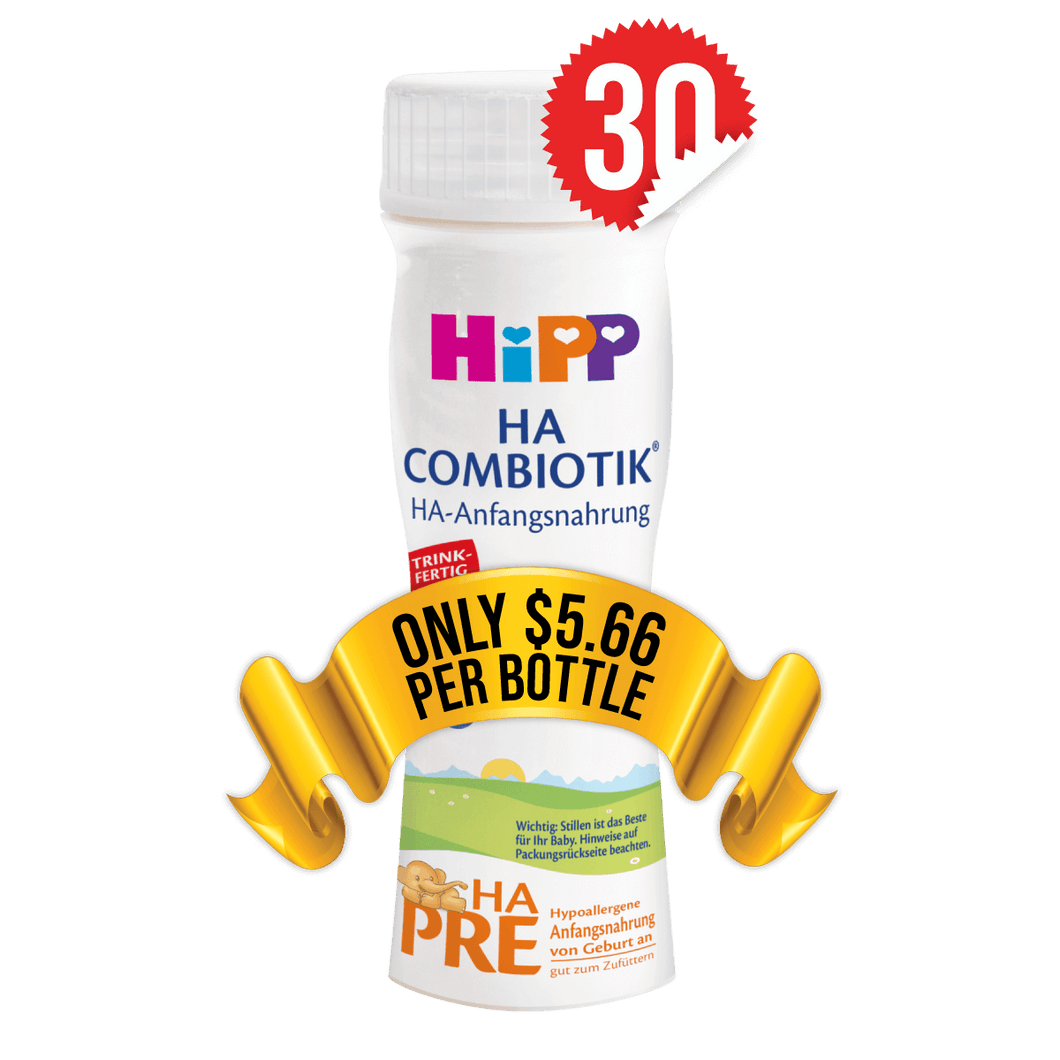 30 Pieces of HiPP Ready-to-Feed HA Stage PRE (200ml)