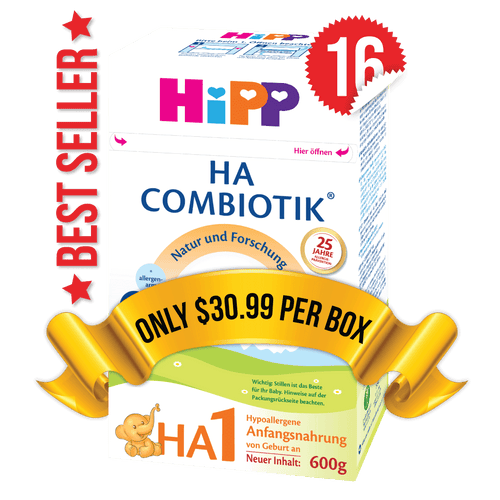 16 Boxes of HiPP HA Stage 1 (600g)