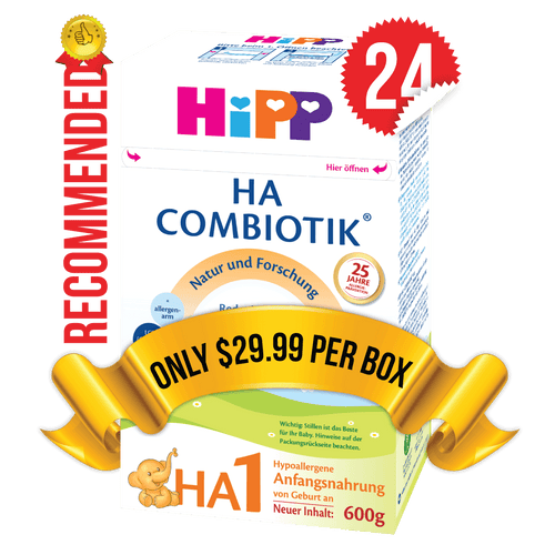 24 Boxes of HiPP HA Stage 1 (500g)