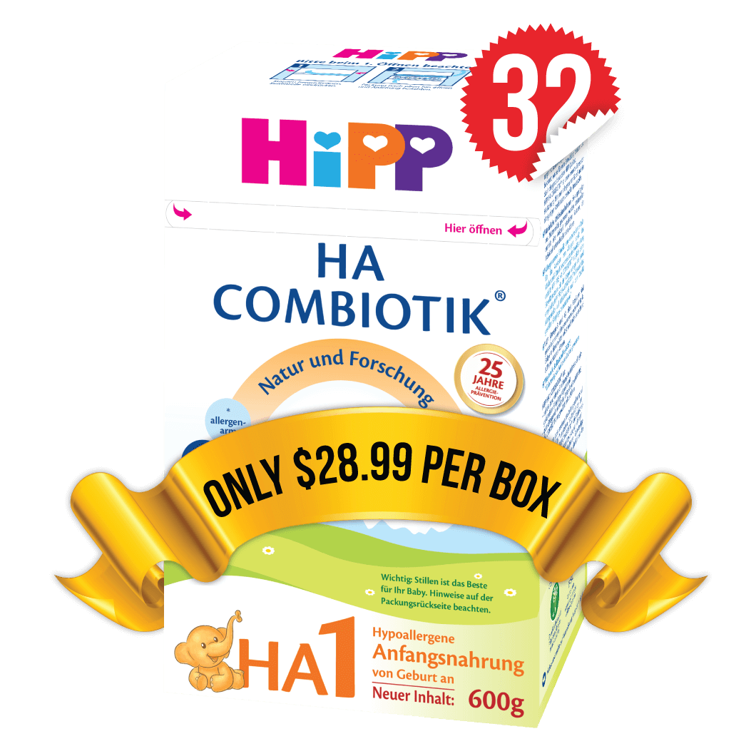 32 Boxes of HiPP HA Stage 1 (600g)