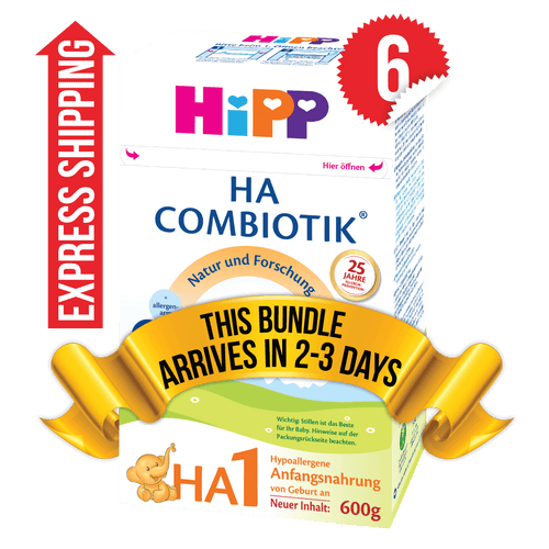 6 Boxes of HiPP HA Stage 1 (600g)