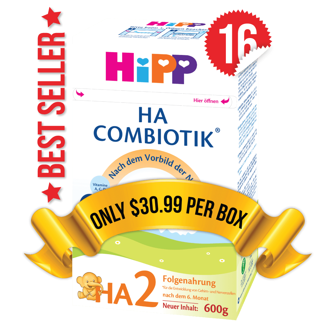 16 Boxes of HiPP HA Stage 2 (500g)
