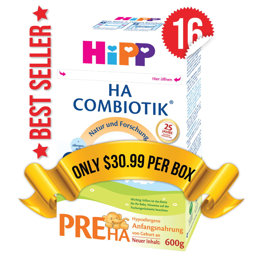 16 Boxes of HiPP HA Stage PRE (600g)