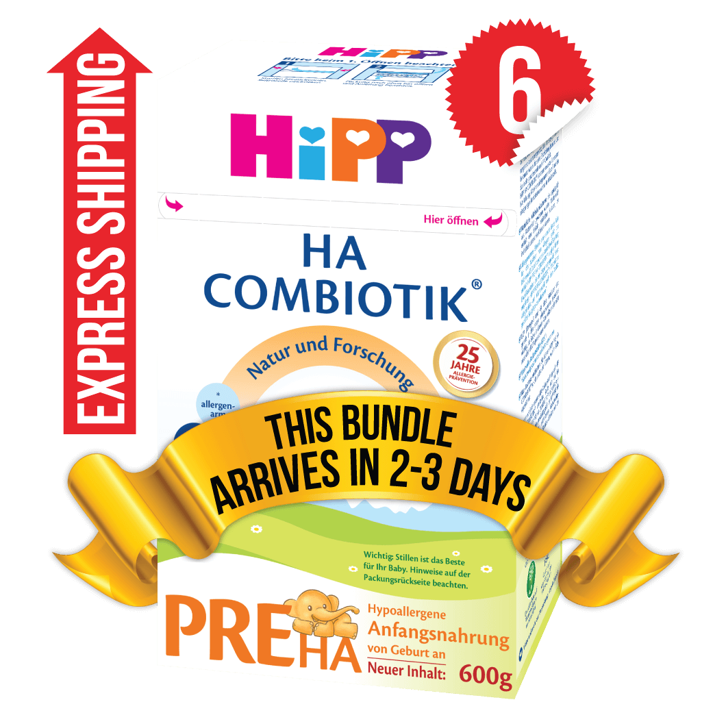 6 Boxes of HiPP HA Stage PRE (600g)
