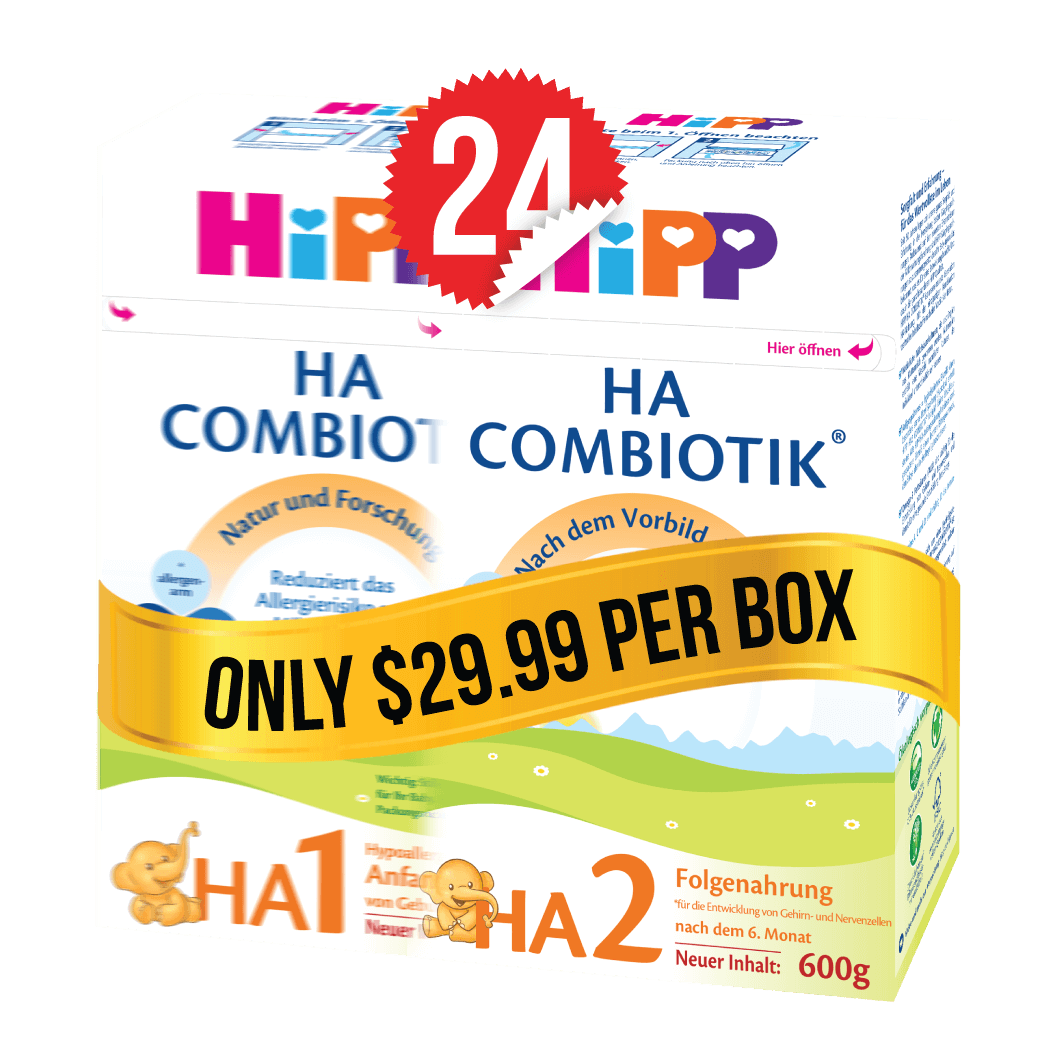 12 Boxes of HiPP HA Stage 1 (600g) and 12 Boxes of HiPP HA Stage 2 (600g)