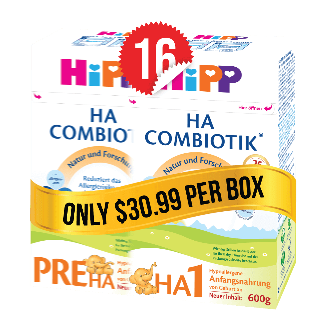 8 Boxes of HiPP HA Stage PRE (600g) and 8 Boxes of HiPP HA Stage 1 (600g)