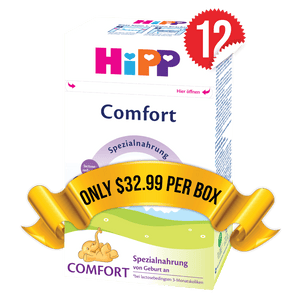 12 Boxes of HiPP Comfort (500g)