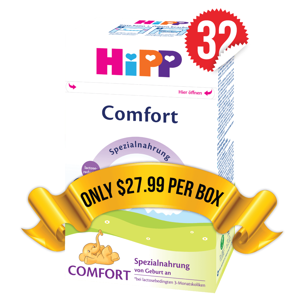 32 Boxes of HiPP Comfort (500g)