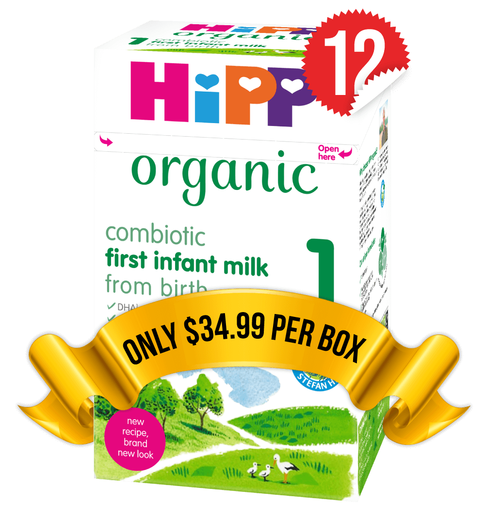 12 Boxes of HiPP U.K. Stage 1 (800g)