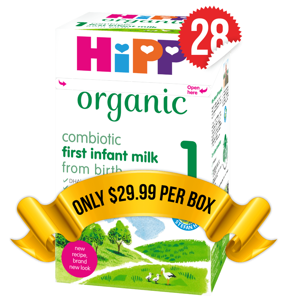 28 Boxes of HiPP U.K. Stage 1 (800g)