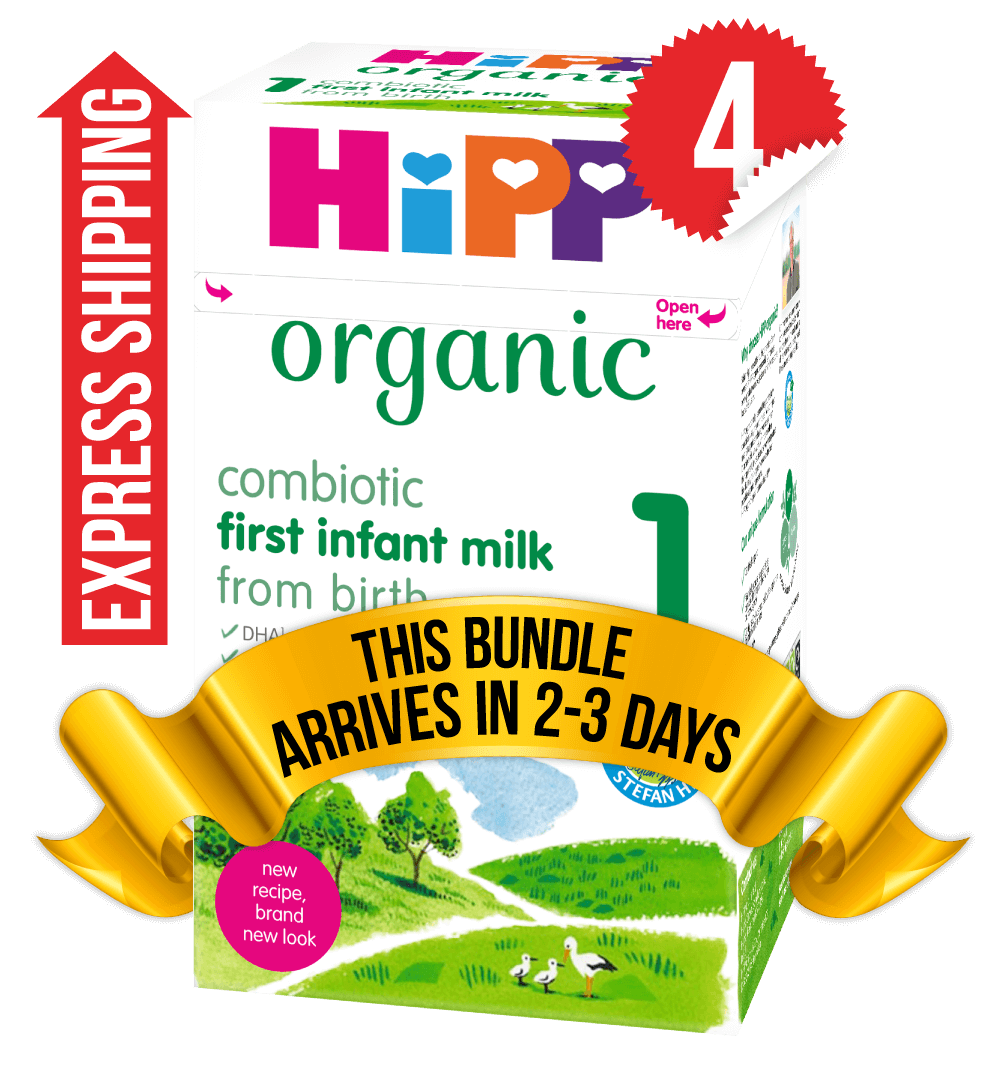 4 Boxes of HiPP U.K. Stage 1 (800g)