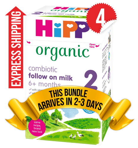 4 Boxes of HiPP U.K. Stage 2 (800g)