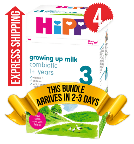 4 Boxes of HiPP U.K. Stage 3 (600g)