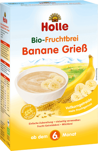 Organic (Bio) Fruit Porridge Cereal with Banana and Semolina (GrieB) Wheat (250g)