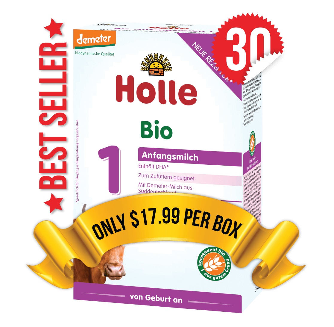 30 Boxes of Holle Stage 1 (400g)