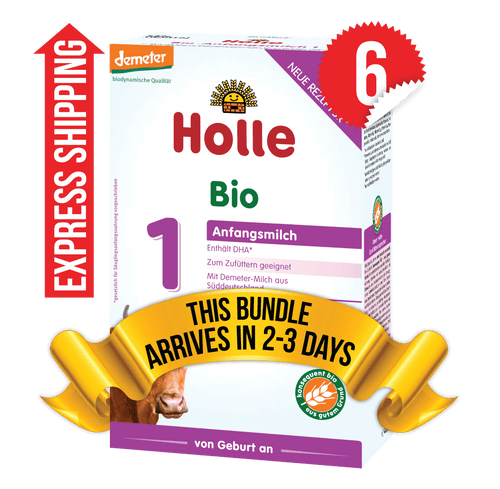 6 Boxes of Holle Stage 1 (400g)