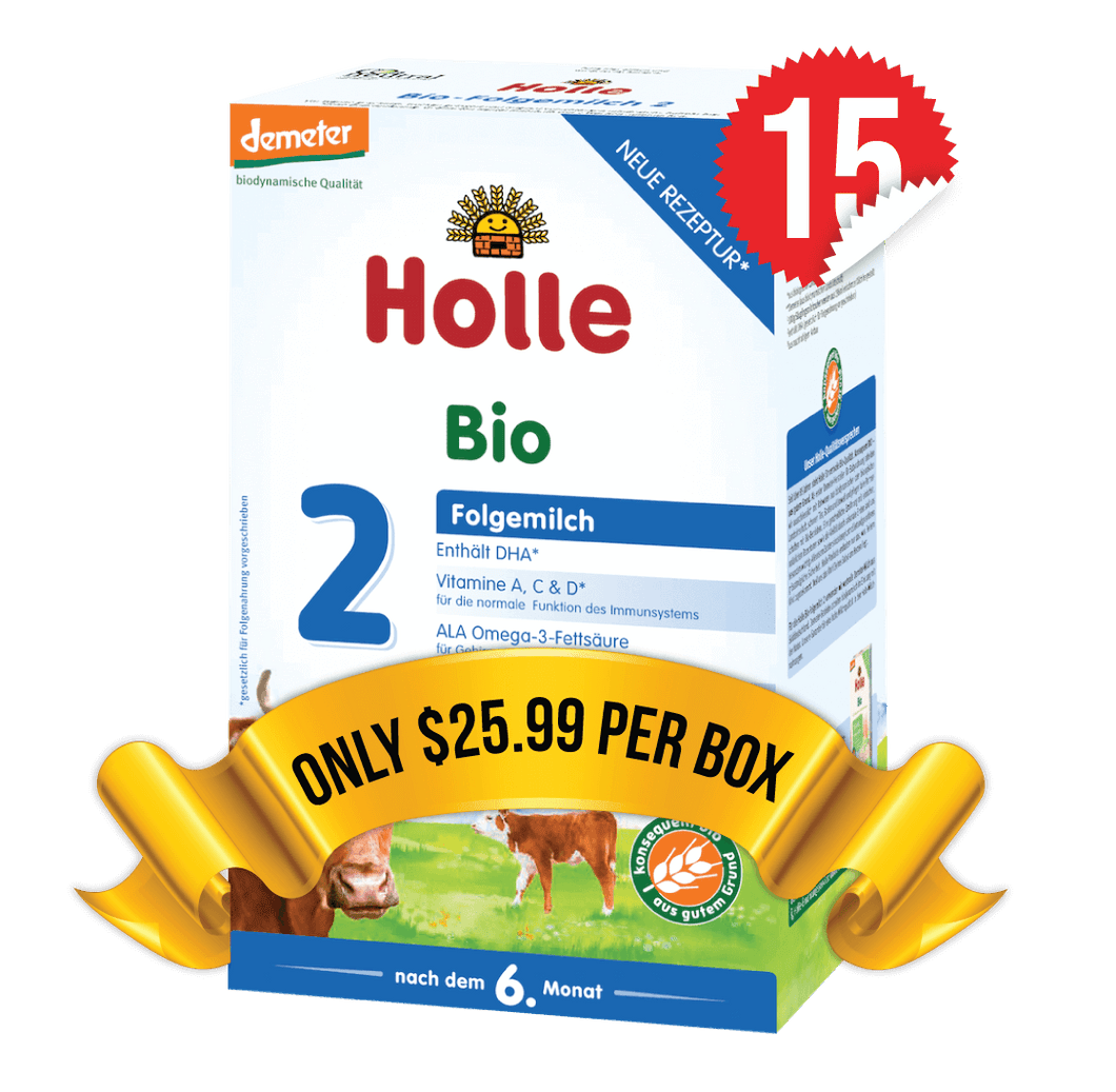 15 Boxes of Holle Stage 2 (600g)