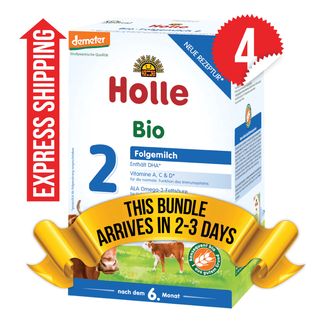 4 Boxes of Holle Stage 2 (600g)