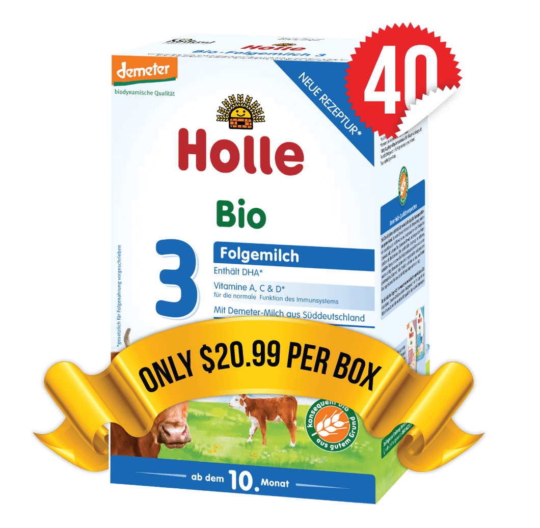40 Boxes of Holle Stage 3 (600g)