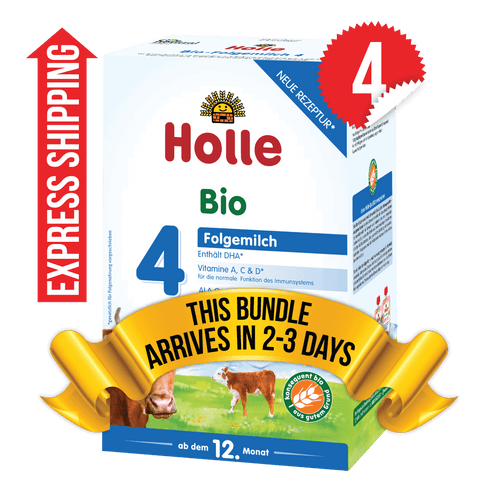 4 Boxes of Holle Stage 4 (600g)